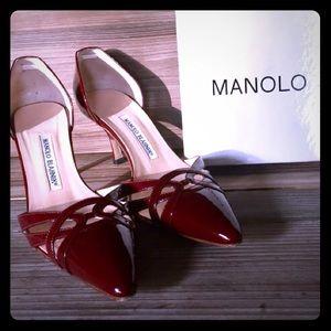 Blahnik Lillie Heels Pump Shoes D' Orsay 39 - 9